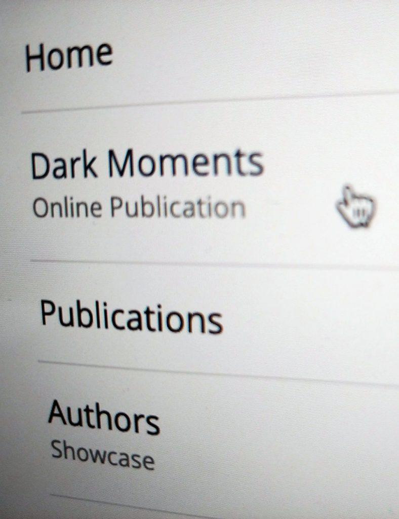 Dark Moments screen